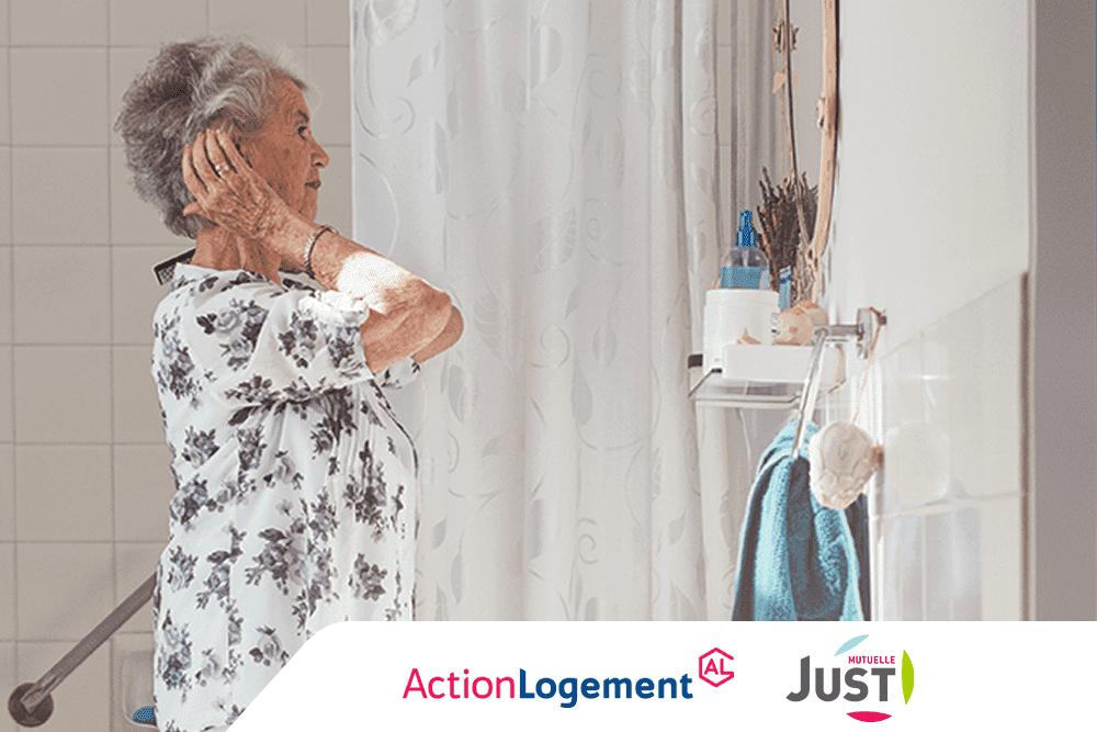 Action Logement accompagne les seniors pour financer leur salle de bain