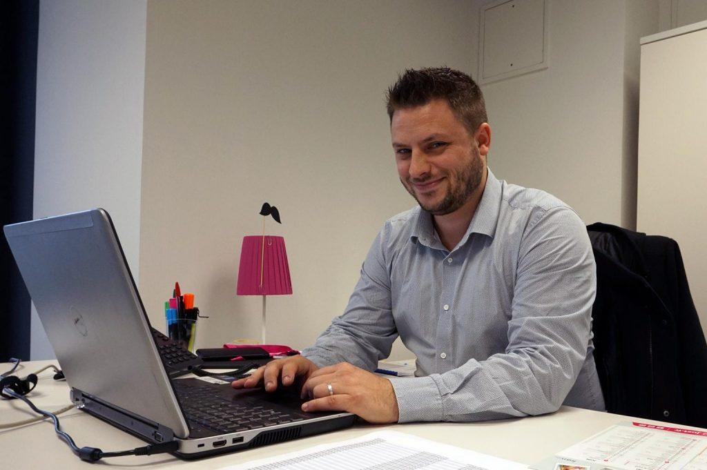 Romain Denis, responsable agence de la Mutuelle Just
